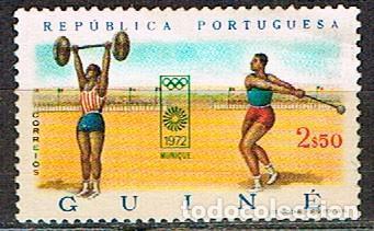 GUINEA PORTUGUESA Nº 345, JUEGOS OLIMPICOS DE MUNICH, NUEVO SIN GOMA (Sellos - Temáticas - Olimpiadas)