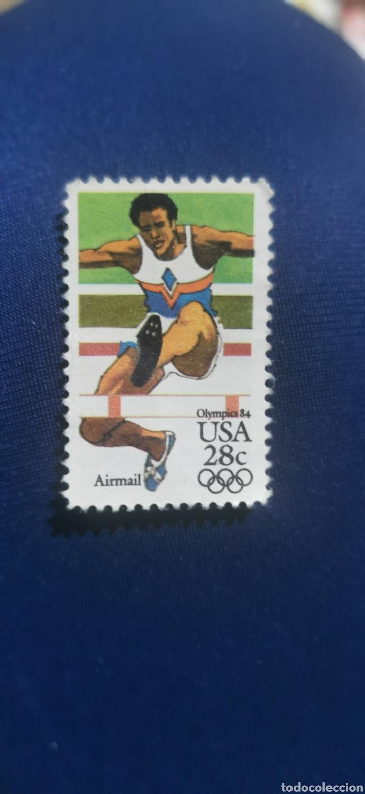 SELLO USA OLIMPIADAS 84 (Sellos - Temáticas - Olimpiadas)