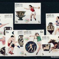 Sellos: LAOS 1987 IVERT 763/9 *** JUEGOS OLÍMPICOS DE SEÚL - DEPORTES. Lote 217714376