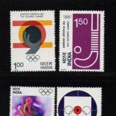 Sellos: INDIA 484/87** - AÑO 1976 - JUEGOS OLÍMPICOS DE MONTREAL. Lote 217928170