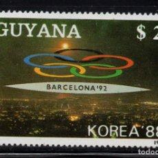 Sellos: GUYANA 2050FB** - AÑO 1988 - JUEGOS OLIMPICOS, BARCELONA 92. Lote 217931788