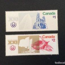 Sellos: CANADA Nº YVERT 598/9**. AÑO 1976. JUEGOS OLIMPICOS DE MONTREAL. SERIE CON CHARNELA. Lote 218161651