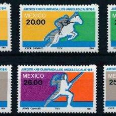 Sellos: MEXICO 1984 IVERT 1046/51 *** JUEGOS OLÍMPICOS DE LOS ANGELES - DEPORTES. Lote 219196108