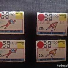 Sellos: SELLOS DE R. DE RUANDA (RWANDA) NUEVO.1972. JUEGOS. INVIERNO. SAPPORO. JAPON.. Lote 219697250