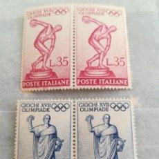 Sellos: SELLOS ITALIA 1960 JUEGOS OLÍMPICOS CON GOMA. Lote 220247963