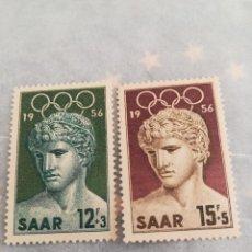 Sellos: SELLOS SAAR 1956 CON GOMA JUEGOS OLÍMPICOS. Lote 220248155
