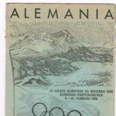 Sellos: 1936 ALEMANIA OLIMPIADA DE BERLÍN FOLLETO PUBLICITARIO EN ESPAÑOL JUEGOS OLÍMPICOS DE INVIERNO. Lote 220487038