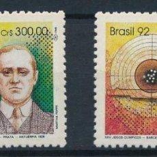 Sellos: BRASIL 1992 IVERT 2053/4 *** JUEGOS OLÍMPICOS DE BARCELONA - DEPORTES. Lote 220854911