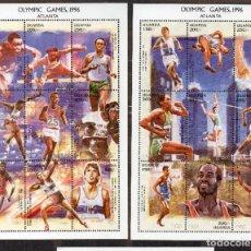 Sellos: UGANDA/1997/MNH/SC# 1477-78/ JUEGOS OLIMPICOS DE ATLANTA 1996 / ATLETISMO / DEPORTES. Lote 221345028
