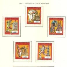 Sellos: REPUBLICA CENTROAFRICANA 1987. SELLOS DEDICADOS A LOS JJ.OO. BARCELONA 1992. Lote 221574447