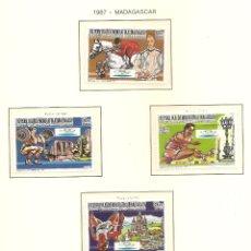 Sellos: MADAGASCAR 1987. SELLOS DEDICADOS A LOS JJ.OO. BARCELONA 1992. Lote 221574700