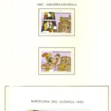 Sellos: ANDORRA ESPAÑOLA 1987. SELLOS DEDICADOS A LOS JJ.OO. BARCELONA 1992. Lote 221575658