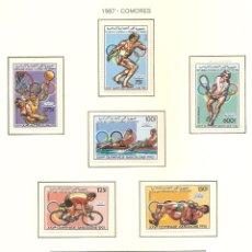 Sellos: COMORES 1987. SELLOS DEDICADOS A LOS JJ.OO. BARCELONA 1992. Lote 221575932