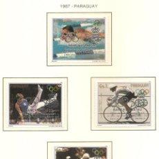 Sellos: PARAGUAY 1987. SELLOS DEDICADOS A LOS JJ.OO. BARCELONA 1992. Lote 221576191