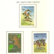 Sellos: STO TOME Y PRINCIPE 1987. SELLOS DEDICADOS A LOS JJ.OO. BARCELONA 1992. Lote 221576316