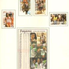 Sellos: GUYANA 1988. SELLOS DEDICADOS A LOS JJ.OO. BARCELONA 1992. Lote 221576755