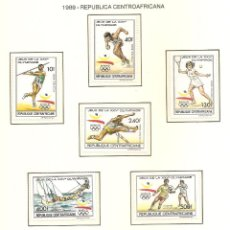 Sellos: REPUBLICACENTROAFRICANA 1989. SELLOS DEDICADOS A LOS JJ.OO. BARCELONA 1992. Lote 221578043
