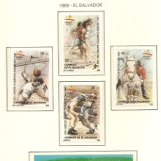 Sellos: EL SALVADOR 1989. SELLOS DEDICADOS A LOS JJ.OO. BARCELONA 1992. Lote 221578176