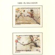 Sellos: EL SALVADOR 1989. SELLOS DEDICADOS A LOS JJ.OO. BARCELONA 1992. Lote 221578261