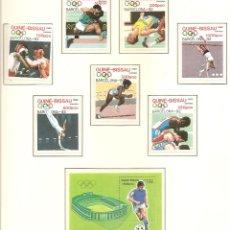 Sellos: GUINEA BISSAU 1989. SELLOS DEDICADOS A LOS JJ.OO. BARCELONA 1992. Lote 221578357