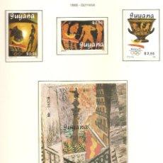 Sellos: GUYANA 1989. SELLOS DEDICADOS A LOS JJ.OO. BARCELONA 1992. Lote 221578468