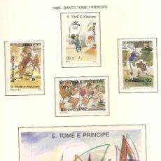 Sellos: STO TOME Y PRINCIPE 1989. SELLOS DEDICADOS A LOS JJ.OO. BARCELONA 1992. Lote 221578641