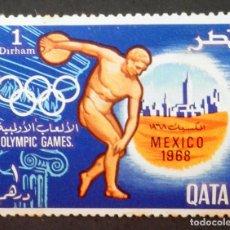 Sellos: 1968 QATAR JUEGOS OLÍMPICOS DE MÉXICO. Lote 221586370