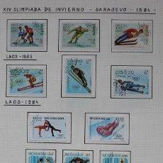 Sellos: 11 SELLOS XIV OLIMPIADA DE INVIERNO SARAJEVO 1984. Lote 221666017