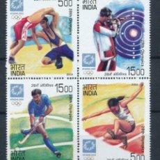 Sellos: INDIA 2004 IVERT 1798/801 *** JUEGOS OLÍMPICOS DE ATENAS - DEPORTES. Lote 221678318