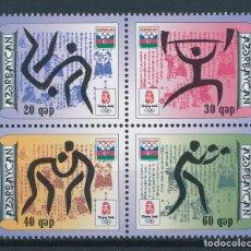 Sellos: AZERBAIJAN 2008 IVERT 607/10 *** JUEGOS OLIMPICOS DE PEKIN - DEPORTES. Lote 221798090