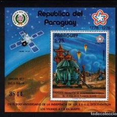 Sellos: PARAGUAY HB 244/45** - AÑO 1976 - CONQUISTA DEL ESPACIO, FUTUROS PROYECTO EN MARTE. Lote 221811558