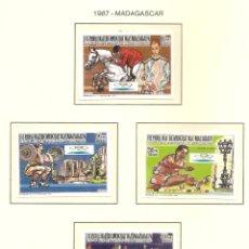 Sellos: MADAGASCAR 1987. SELLOS DEDICADOS A LOS JJ.OO. BARCELONA 1992. Lote 222049631