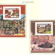 Sellos: MADAGASCAR 1987. SELLOS DEDICADOS A LOS JJ.OO. BARCELONA 1992. Lote 222052052