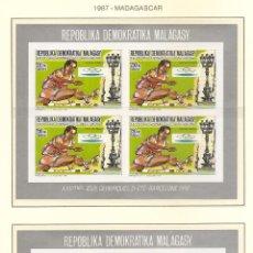 Sellos: MADAGASCAR 1987. SELLOS DEDICADOS A LOS JJ.OO. BARCELONA 1992. Lote 222052711