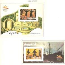 Sellos: GUYANA 1989. SELLOS DEDICADOS A LOS JJ.OO. BARCELONA 1992. Lote 222054186