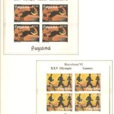 Sellos: GUYANA 1989. SELLOS DEDICADOS A LOS JJ.OO. BARCELONA 1992. Lote 222054387