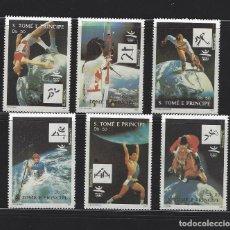 Sellos: STO TOME E PRINCIPE 1992 1133/38 CARTELES BARCELONA 92 DEPORTES. Lote 222582351