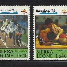 Sellos: SIERRA LEONA 1990 1250/53 CICLISMO/LUCHA BARCELONA 92 DEPORTES. Lote 222590646
