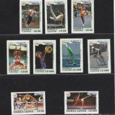 Sellos: SIERRA LEONA 1992 1519/27 VELA/GIMNASIA/DISCO BARCELONA 92 DEPORTES 9V.. Lote 222598741