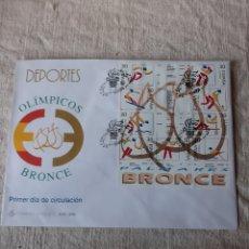 Sellos: DEPORTES OLÍMPICOS BRONCE OLÍMPICOS 1996 ESPAÑA EDIFIL 3418/26 MATASELLO ESPECIAL. Lote 222625985
