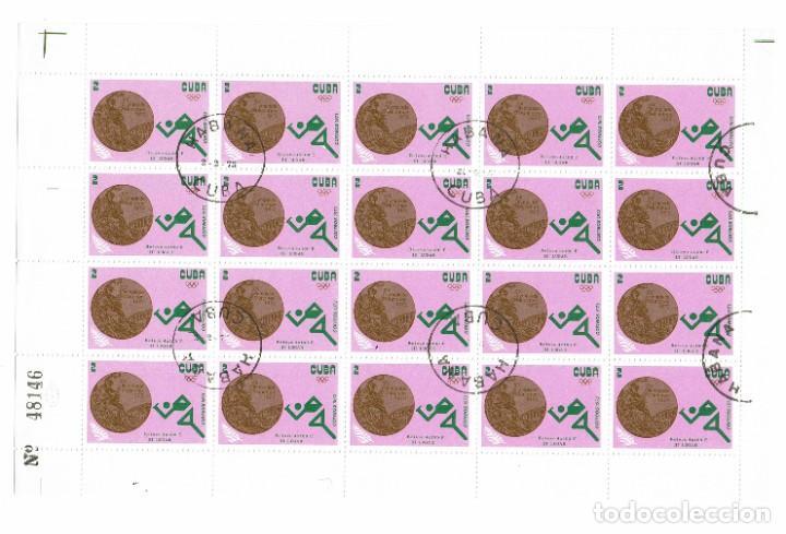 Sellos: Cuba Olimpiadas 1972. Pliego completo de Sellos emitidos en 1973, matasellados en Cuba La Habana - Foto 4 - 223647831