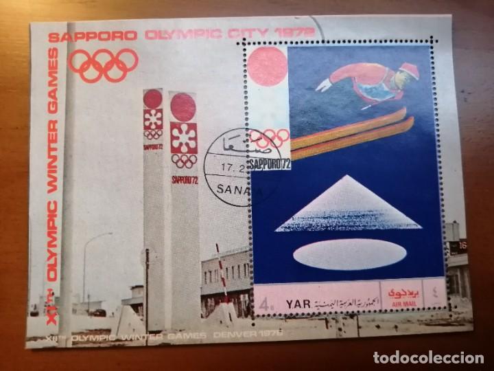 YAR - YEMEN - HOJA BLOQUE, JUEGO OLIMPICOS SAPPORO 1972 (Sellos - Temáticas - Olimpiadas)