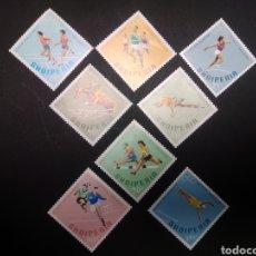 Sellos: ALBANIA. JUEGOS OLÍMPICOS DE MÉXICO 1968. COMPLETA. NUEVOS SIN CHARNELA.. Lote 225895930