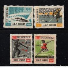 Timbres: ALBANIA 667/70** - AÑO 1963 - JUEGOS OLIMPICOS DE INVIERNO DE INNSBRUCK. Lote 229214250