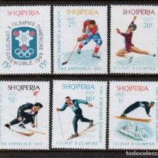Timbres: ALBANIA 1057/62** - AÑO 1968 - JUEGOS OLIMPICOS DE INVIERNO, GRENOBLE. Lote 229215465