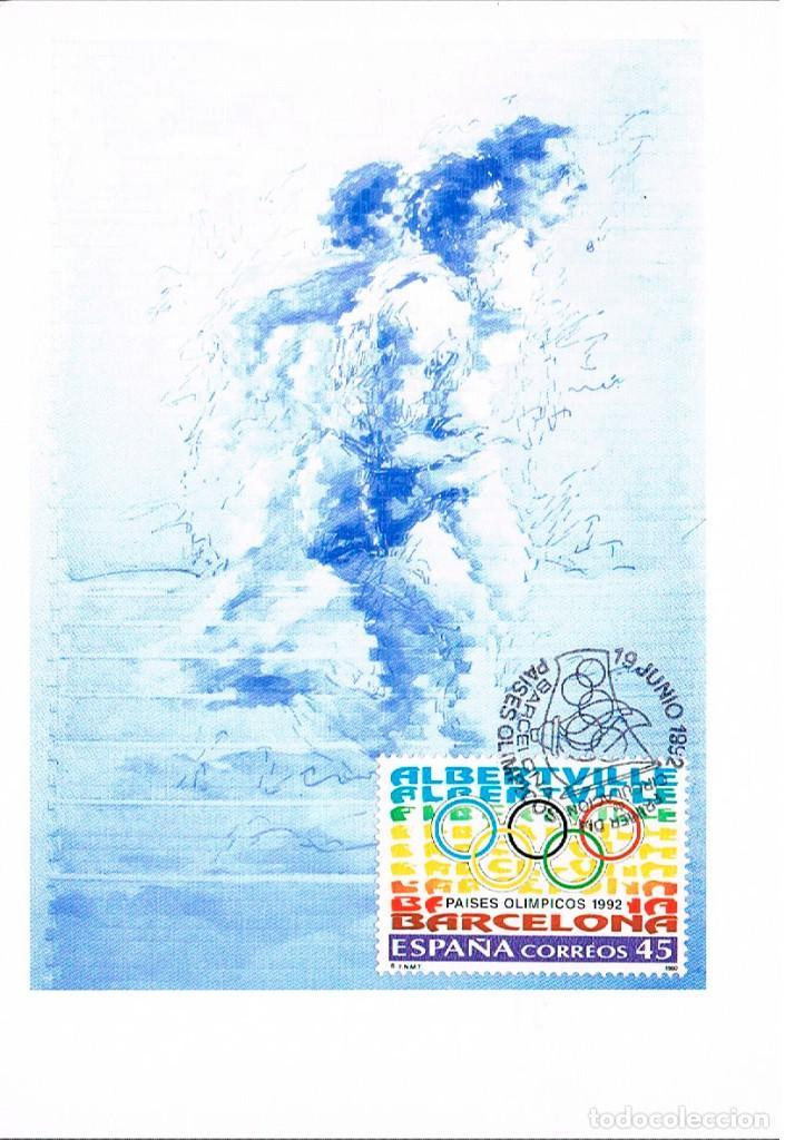 EDIFIL 3211, PAISES OLIMPICOS: BARCELONA-ALBERTVILLE, TARJETA MÁXIMA PRIMER DÍA 19-6-1992 (Sellos - Temáticas - Olimpiadas)