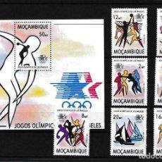 Sellos: MOZAMBIQUE 1983 IVERT 903/9 Y HB 13 *** JUEGOS OLÍMPICOS DE LOS ANGELES - DEPORTES. Lote 234661475