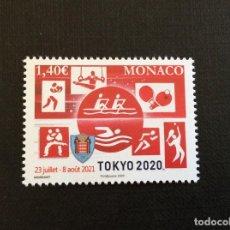 Sellos: MONACO AÑO 2020 JUEGOS OLIMPICOS DE TOKYO. Lote 236658900