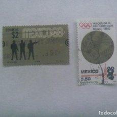 Sellos: LOTE DE 2 SELLOS DE MEXICO - OLIMPIADAS : MEXICO 1968 Y MOSCU 1980. Lote 237320690