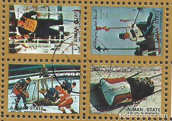 Sellos: AJMAN STATE - 1973 - BLOQUE DE 16 SELLOS DE LOS JUEGOS OLIMPICOS - SELLADO - Foto 4 - 237580750